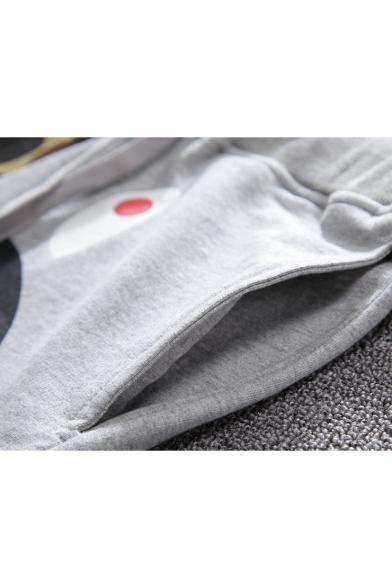New Trendy Shark Camo Printed Drawstring Waist Relaxed Beach Sweat Shorts