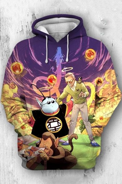 Popular Comic Figure Printed Long Sleeve Pullover Sport Hoodie