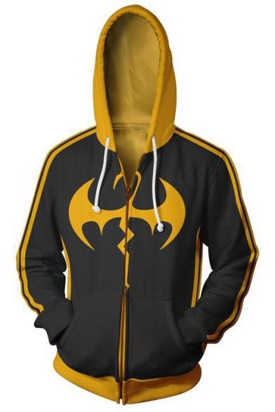 Fist Cool 3D Printed Cosplay Costume Long Sleeve Zip Up Casual Hoodie