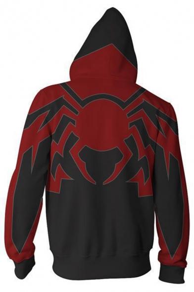 Cool 3D Printed New Trendy Long Sleeve Zip Up Loose Fit Hoodie