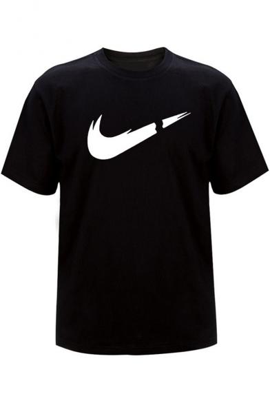 New Trendy Logo Pattern Round Neck Short Sleeve Casual T-Shirt, LC512319, Color 1;color 2;color 3;color 4;color 5;color 6;color 7;color 8;color 9;color 10;color 11;color 12;color 13;color 14;color 15;color 16;color 17;color 18;color 19;color 20;color 21