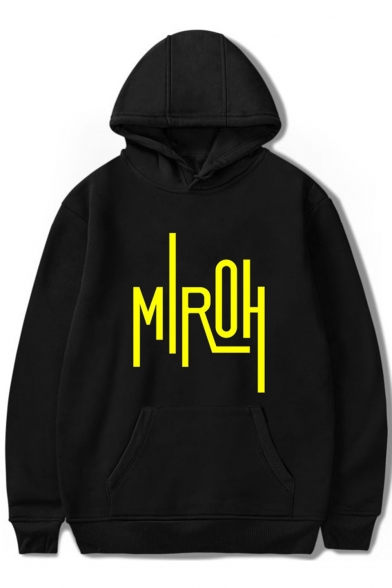 Boy Band Cool Letter Print Unisex Loose Casual Hoodie