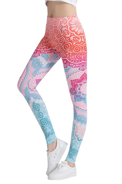 Fashion Tribal Printed Womens Sports Stretch Slim Fit Yoga Leggings