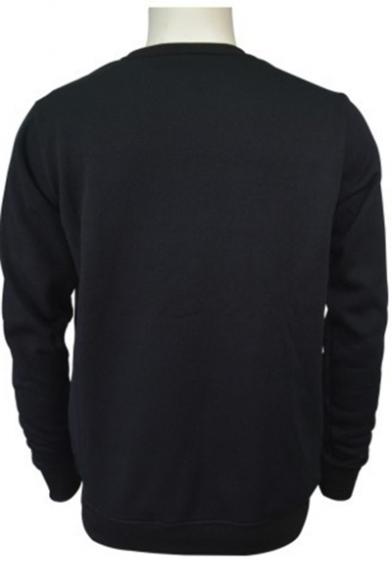 Boy Band Letter Cartoon Character Printed Round Neck Long Sleeve Unisex Sweatshirt