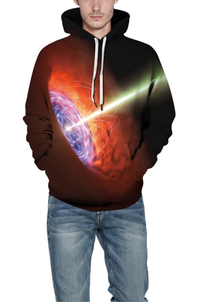 Universe Black Hole 3D Printed Unisex Relaxed Fit Pullover Hoodie