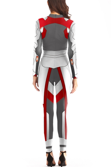 Popular Quantum Battle Suit Cosplay Costume Long Sleeve Slim Fit Jumpsuits