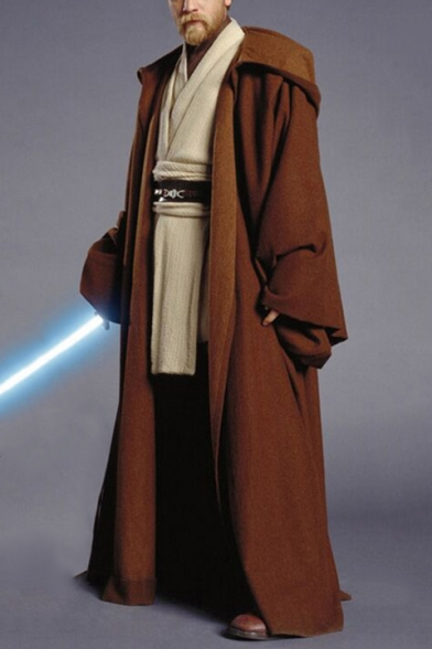 Star Wars Jedi Cosplay Costume Long Sleeve Longline Cape Coat
