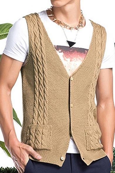 Button up sweater vest for men doyen sports investments ltd