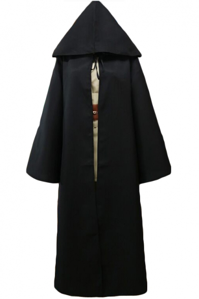 Star Wars Jedi Cosplay Costume Long Sleeve Longline Cape Coat