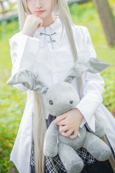 Yosuga no Sora Kasugano Sora Cosplay Costume Long Sleeve High Low Hem Shirt Mini A-Line Skirt Co-ords