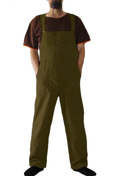 Gocgt Womens Casual Summer Denim Bib Overall Jumpsuits Long Pants