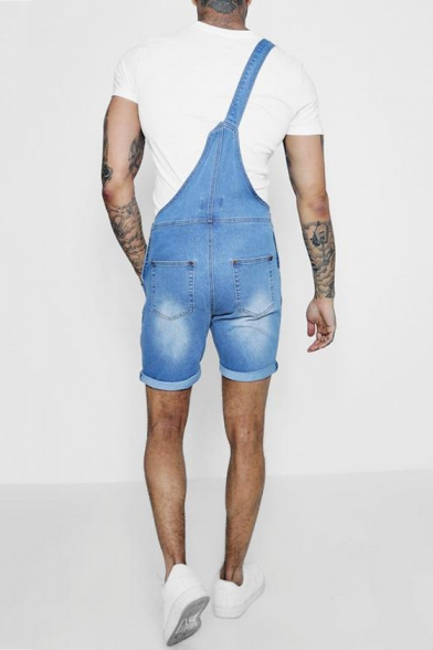 Mens New Fashion Casual Slim Fit Jean Overall Shorts