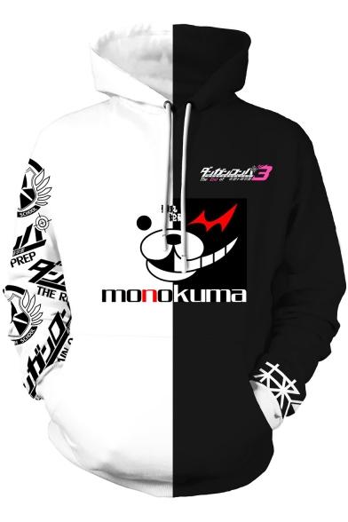 Danganronpa Trigger Happy Havoc 3D Comic Printed Black and White Hoodie
