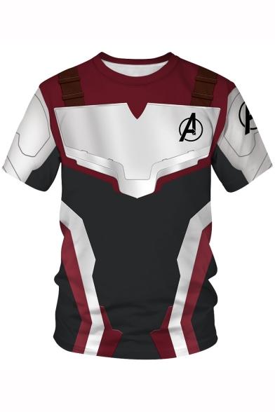 24b28405f Avengers Quantum Battle Suit Short Sleeve Unisex Casual Loose Black ...