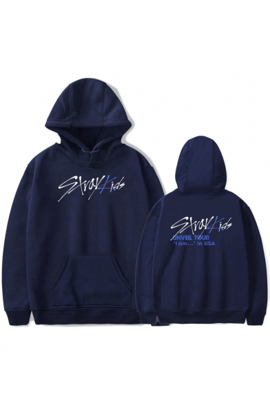 Popular Boy Band Cool Simple Letter Print Unisex Relaxed Hoodie