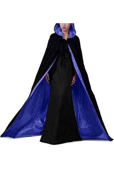 Halloween Cosplay Costume Hooded Longline Vampire Cloak Medieval Cape Coat