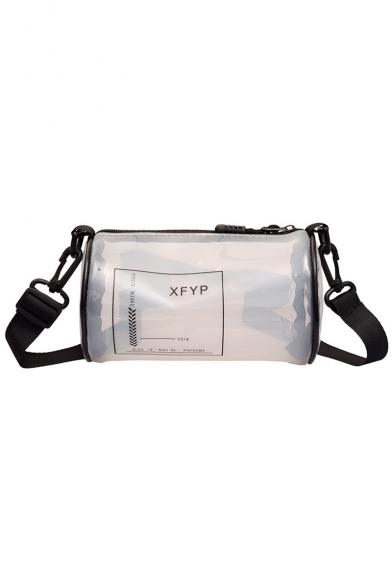 New Trendy Letter Printed Transparent Crossbody Shoulder Bag 18*11*11 CM