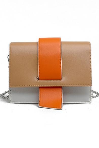 Stylish Color Block Crossbody Sling Bag for Women 21*7*16 CM