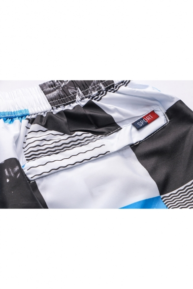 Men's Sport Breathable Quick Drying Zip Pocket Side Loose Casual Surfing Swim Trunks with Liner