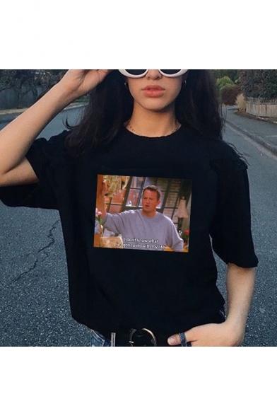 Funny Figure Printed Street Fashion Short Sleeve T-Shirt