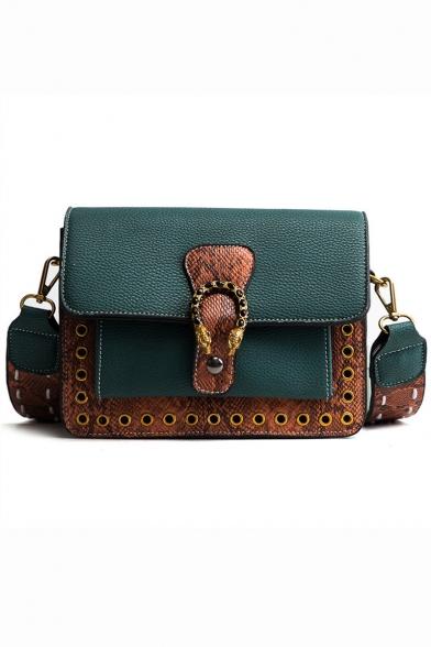 Retro Fashion Snakeskin Pattern Crossbody Shoulder Bag 21*9*17 CM