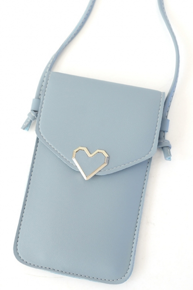 Simple Heart Decoration Crossbody Cell Phone Wallet 14*3*19.5 CM
