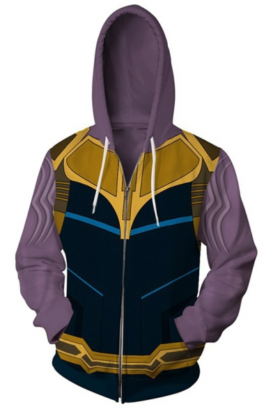 New Fashion Comic Cosplay 3D Printed Long Sleeve Zip Up Hoodie