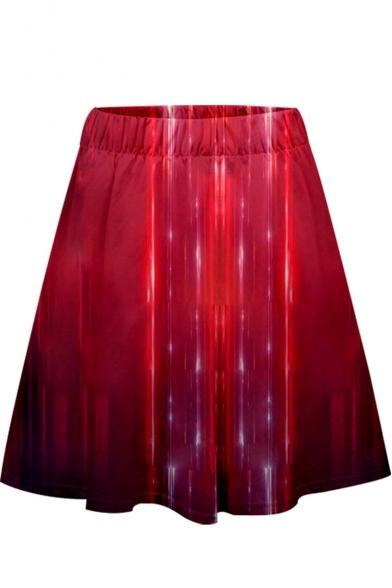 Womens Cool Metallic Color Quantum Battle Suit Mini A-Line Skirt
