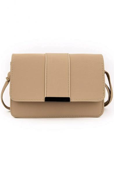 Designer Solid Color Cover Square Crossbody Bag