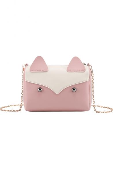 Lovely Cartoon Fox Shape PU Leather Crossbody Wallet Purse 17*8*12 CM