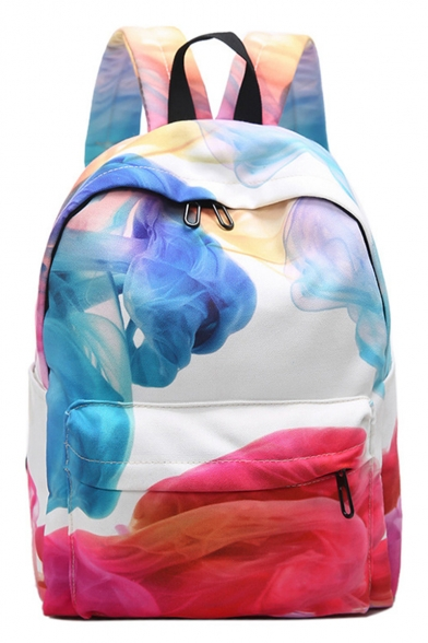 Hot Fashion Tie Dye Printed Large Capacity Bookbag College Backpack 28*14*37 CM