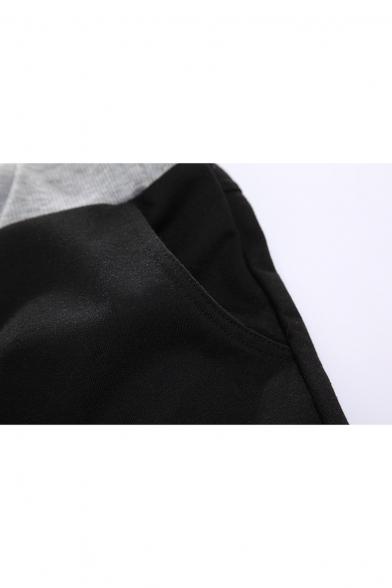 New Stylish Dragon Logo Printed Drawstring Waist Summer Black Athletic Shorts for Guys