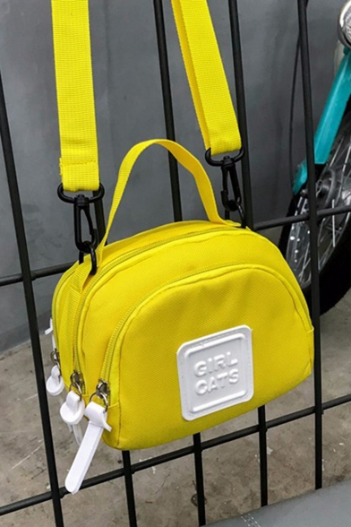 Popular Letter Patchwork Sporty Crossbody Bag with Zippers for Teenagers 16*7*15 CM