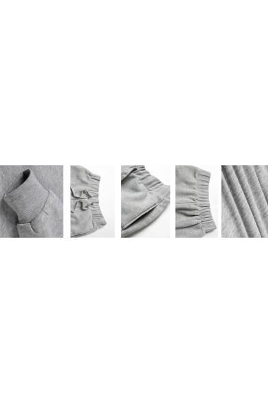 Simple Letter FRIENDS Printed Drawstring Waist Cotton Sport Joggers Sweatpants