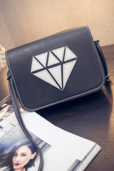 Popular Geometric Diamond Pattern Square Crossbody Bag 18*6*15 CM