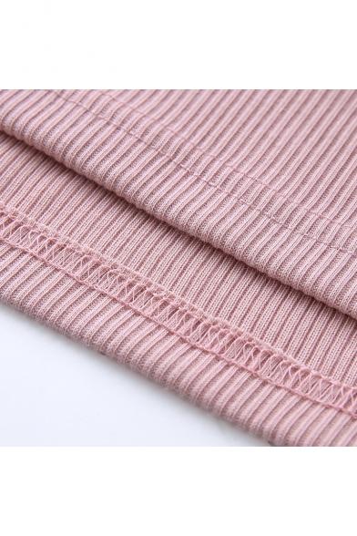 Girls Summer Unique Fashion Chain Straps Pink Bodycon Mini Cami Dress