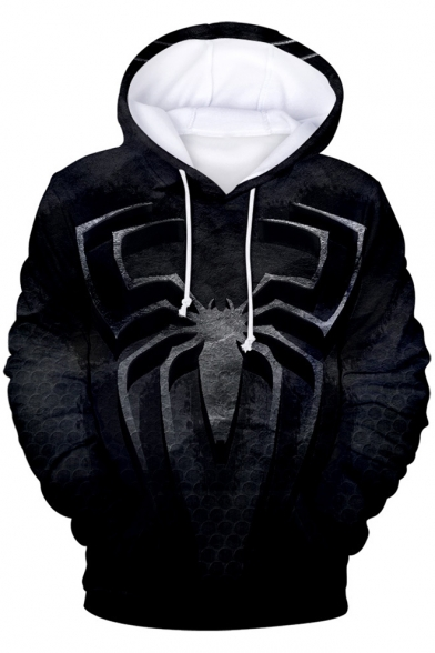 Cool Black Spider Far From Home 3D Printed Long Sleeve Pullover Hoodie