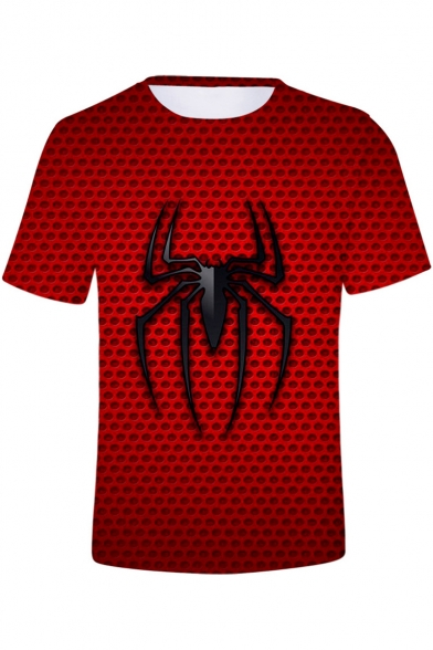 Fashion Cool Spider Far From Home 3D Printed Basic Red T-Shirt