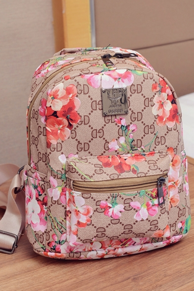 Stylish Floral Printed Casual Backpack for Women 22*12*24
