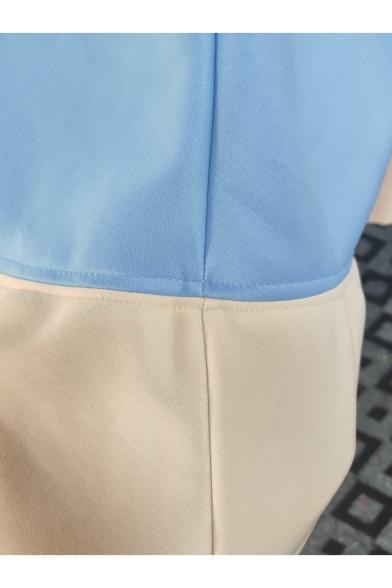 Hot Fashion Sleeveless Crisscross Plunge Neck Plain Backless Mini Swing Light Blue Dress For Women