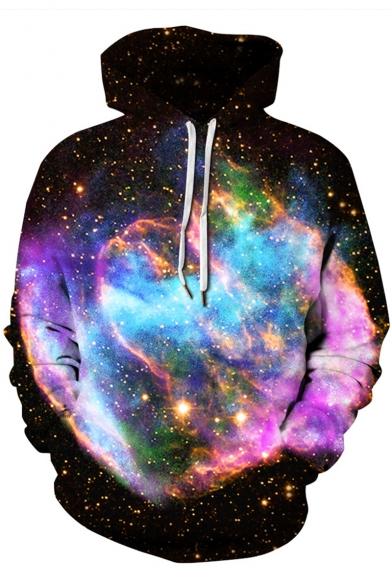 Unique 3D Starry Galaxy Printed Long Sleeve Sport Unisex Hoodie