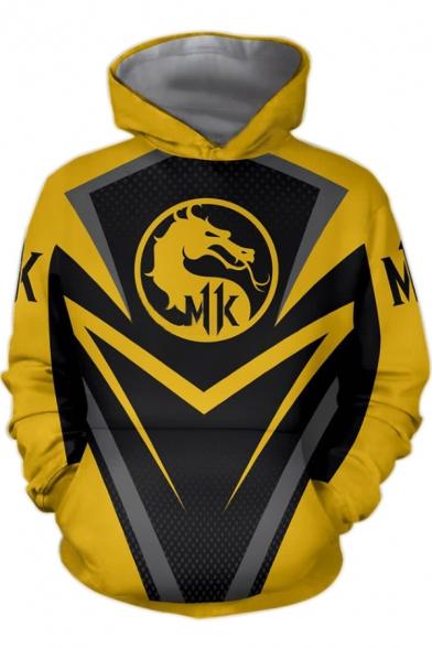 Fashion Dragon Comic Cosplay Costume Yellow and Black Long Sleeve Sport Loose Hoodie