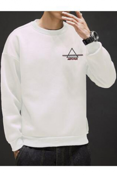 logo sweatshirt with a round neck
