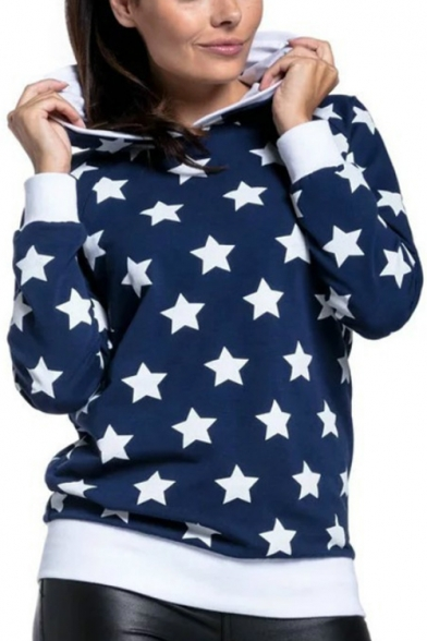 Fashion Star Printed Long Sleeve Loose Casual Pullover Maternity Nursing Hoodie