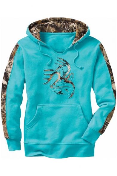 New Trendy Long Sleeve Color Block Loose Sport Pullover Hoodie