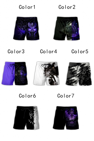 Popular 3D Printed Drawstring Waist Loose Fit Sport Shorts for Men