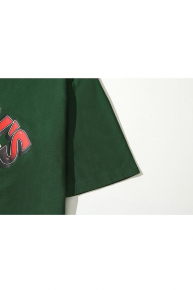 Cartoon Letter WOODY'S Pattern Summer Cotton Oversized T-Shirt