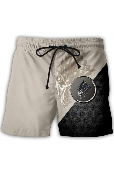 Game of Thrones House Animal Badge Print Drawstring Waist Sport Athletic Shorts