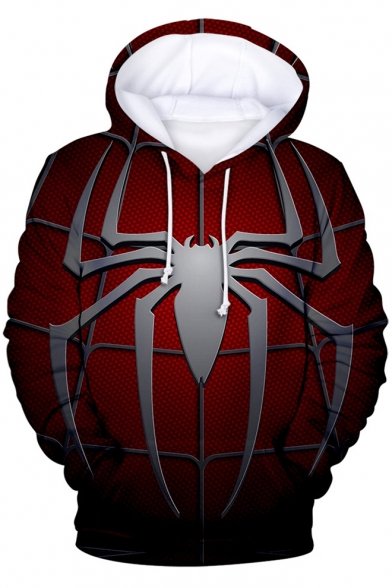 Cool Red Spider Far From Home 3D Printed Unisex Casual Loose Drawstring Hoodie