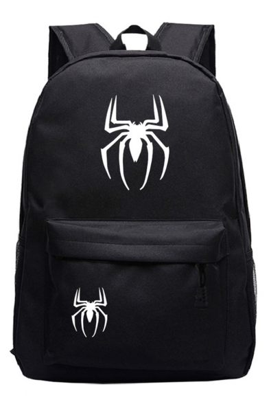 Popular Fashion Spider Printed Sports Bag School Backpack with Zipper 31*14*45 CM